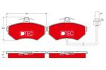 Klocki hamulcowe - komplet TRW DTEC COTEC GDB1366DTE