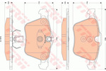 Klocki hamulcowe - komplet TRW COTEC GDB1835