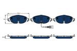 Klocki hamulcowe - komplet TRW ELECTRIC BLUE GDB1956BTE