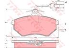 Klocki hamulcowe - komplet TRW GDB1057 TRW GDB1057