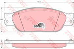 Klocki hamulcowe - komplet TRW GDB1401