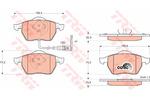 Klocki hamulcowe - komplet TRW GDB1403 TRW GDB1403