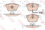 Klocki hamulcowe - komplet TRW GDB1616
