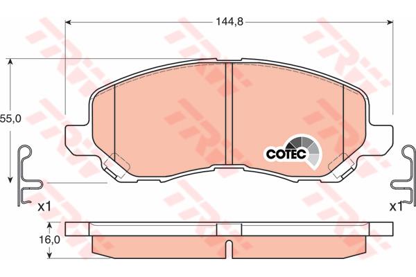 Klocki hamulcowe - komplet TRW (GDB3287)