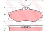 Klocki hamulcowe - komplet TRW GDB399 TRW GDB399