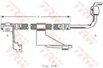 Przewód hamulcowy elastyczny TRW PHD364 TRW PHD364
