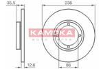 Tarcza hamulcowa KAMOKA 1032152
