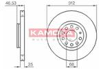 Tarcza hamulcowa KAMOKA 1032312 (Oś przednia)