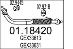 Rura wydechowa MTS  01.18420 (Z przodu)