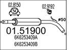 Tłumik środkowy MTS  01.51900