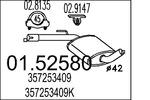 Tłumik środkowy MTS  01.52580