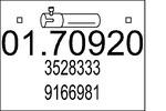 Rura wydechowa MTS  01.70920 (Z tyłu)