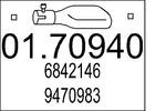 Rura wydechowa MTS  01.70940 (Z tyłu)