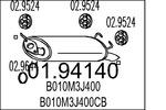 Tłumik końcowy MTS  01.94140
