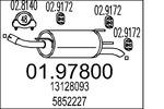 Tłumik końcowy MTS  01.97800