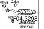 Katalizator MTS 04.3298 MTS 04.3298