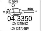 Katalizator MTS  04.3350