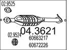 Katalizator MTS  04.3621