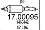 Filtr cząstek stałych (DPF) MTS 17.00095