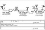 Układ wydechowy MTS  C380300003153