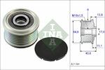 Sprzęgło jednokierunkowe alternatora INA 535 0102 10 INA 535010210