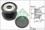 Sprzęgło jednokierunkowe alternatora INA 535 0293 10 INA 535029310