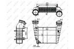 Chłodnica powietrza doładowującego - intercooler NRF 30138A