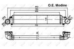 Chłodnica powietrza doładowującego - intercooler NRF 30161A NRF 30161A