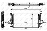 Chłodnica powietrza doładowującego - intercooler NRF 30269 NRF 30269