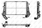 Chłodnica powietrza doładowującego - intercooler NRF 30300 NRF 30300