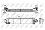 Chłodnica powietrza doładowującego - intercooler NRF 30304 NRF 30304