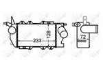Chłodnica powietrza doładowującego - intercooler NRF 30309 NRF 30309