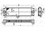 Chłodnica powietrza doładowującego - intercooler NRF 30310 NRF 30310