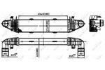Chłodnica powietrza doładowującego - intercooler NRF 30314 NRF 30314