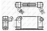 Chłodnica powietrza doładowującego - intercooler NRF 30355 NRF 30355