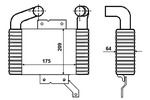 Chłodnica powietrza doładowującego - intercooler NRF 30472 NRF 30472