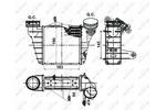 Chłodnica powietrza doładowującego - intercooler NRF 30476