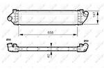 Chłodnica powietrza doładowującego - intercooler NRF 30515 NRF 30515