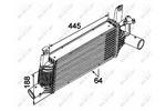 Chłodnica powietrza doładowującego - intercooler NRF 30527 NRF 30527