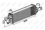 Chłodnica powietrza doładowującego - intercooler NRF 30533 NRF 30533