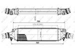 Chłodnica powietrza doładowującego - intercooler NRF 30780 NRF 30780