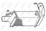 Chłodnica powietrza doładowującego - intercooler NRF 30835 NRF 30835