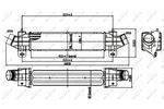 Chłodnica powietrza doładowującego - intercooler NRF 30840 NRF 30840