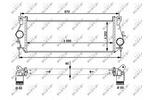 Chłodnica powietrza doładowującego - intercooler NRF 30910 NRF 30910