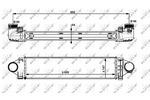 Chłodnica powietrza doładowującego - intercooler NRF 30912 NRF 30912