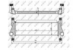 Chłodnica powietrza doładowującego - intercooler NRF 30918 NRF 30918