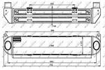 Chłodnica powietrza doładowującego - intercooler NRF 30919 NRF 30919