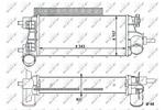 Chłodnica powietrza doładowującego - intercooler NRF 30926 NRF 30926
