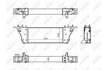 Chłodnica powietrza doładowującego - intercooler NRF 30928 NRF 30928
