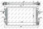Chłodnica powietrza doładowującego - intercooler NRF 30934 NRF 30934